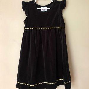 Hanna Andersson black velvet dress